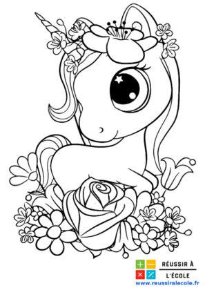 coloriage de licorne à imprimer