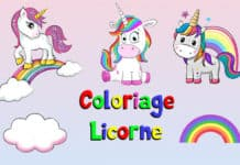 coloriage licorne gratuit