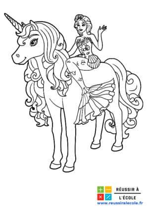 licorne coloriage