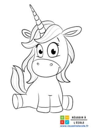 dessin licorne kawai