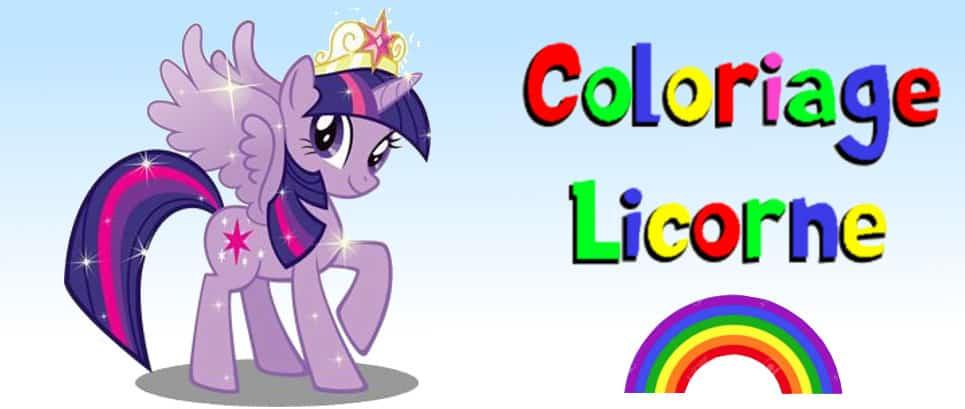 dessin de licorne à colorier