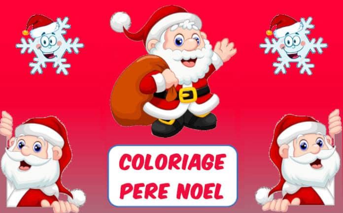 coloriage pere noel
