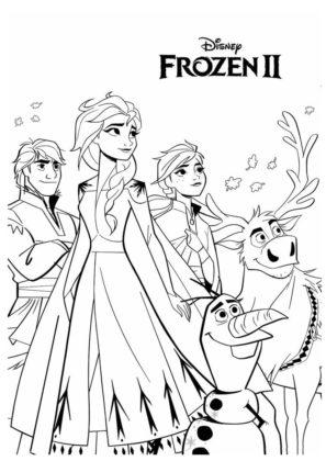 coloriage reine des neiges à imprimer