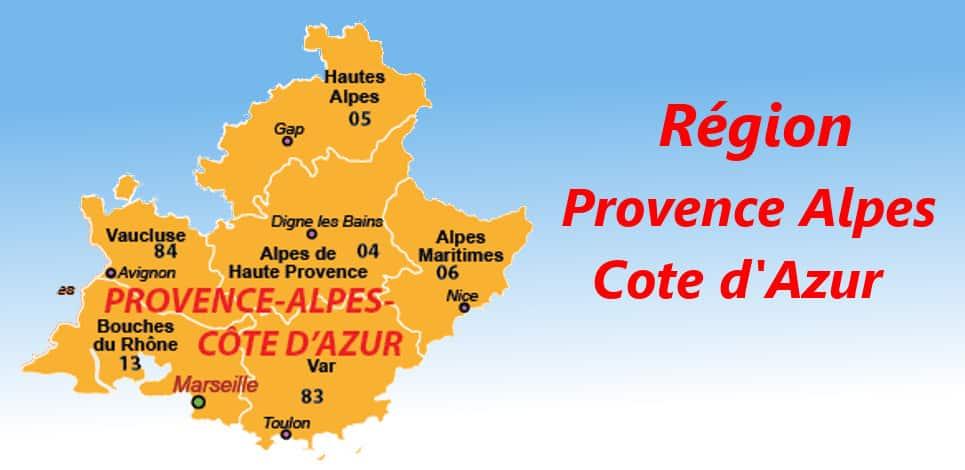 departement France region PACA