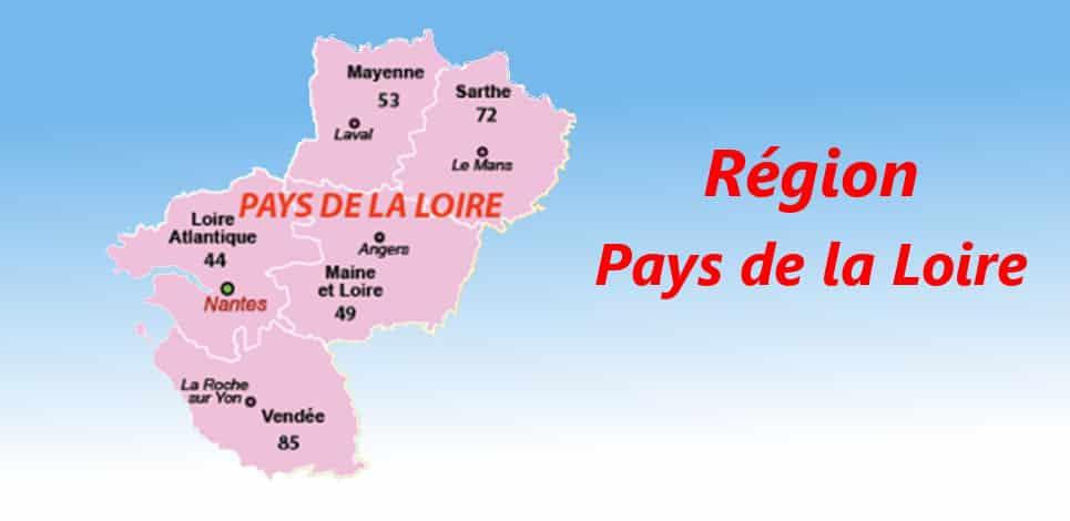 departement de France region pays de loire
