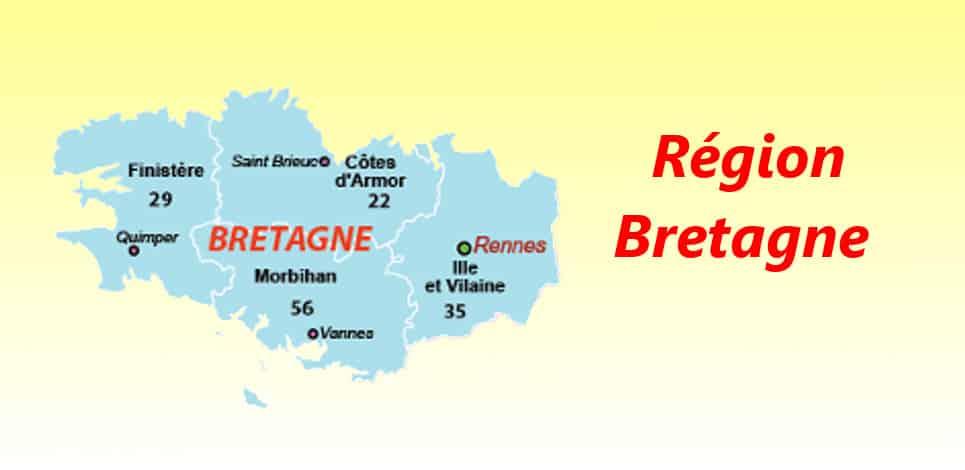 departements de france Bretagne