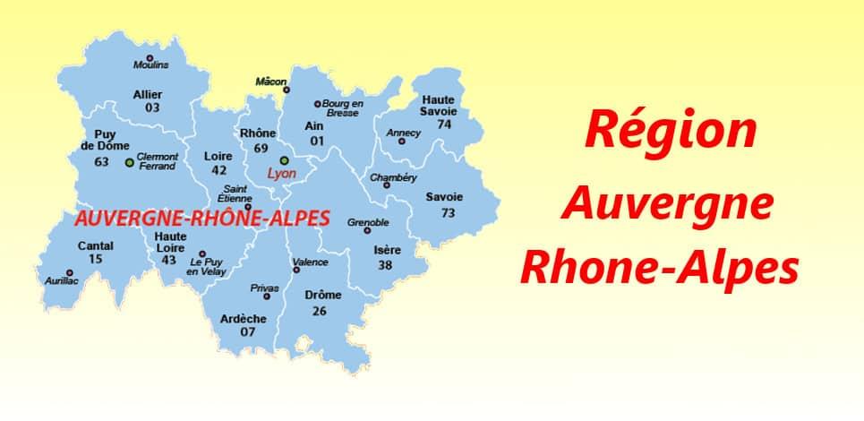 departements français region auvergne