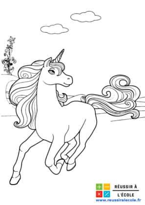 licornes dessin à imprimer