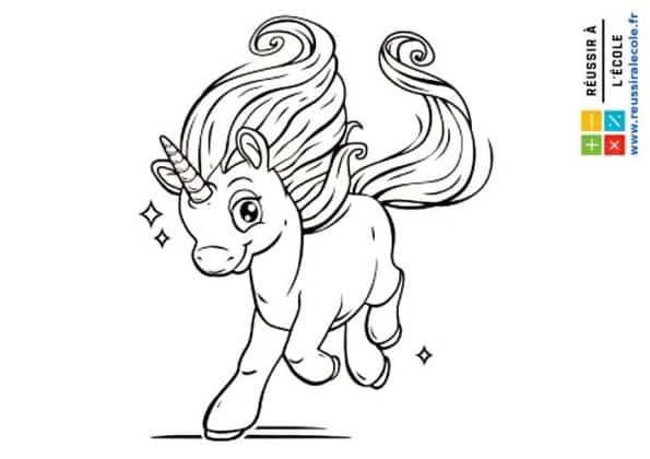 licorne dessin à imprimer