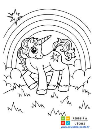 coloriage licorne à imprimer