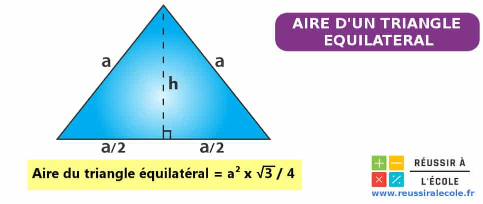 aire d un triangle equilateral