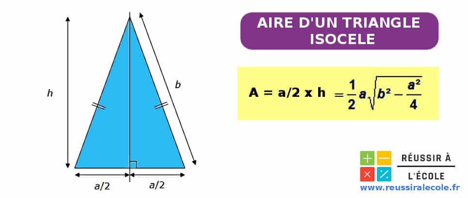 aire d un triangle isocele