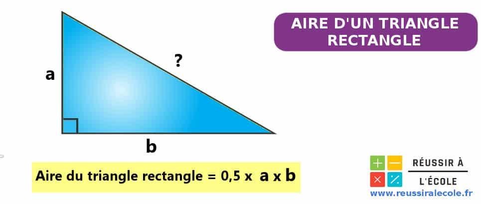 aire d'un triangle rectangle