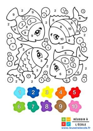 coloriage magique cp mathématiques