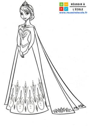 dessin reine des neiges