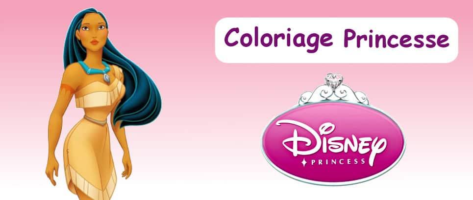 Dessin princesse à colorier