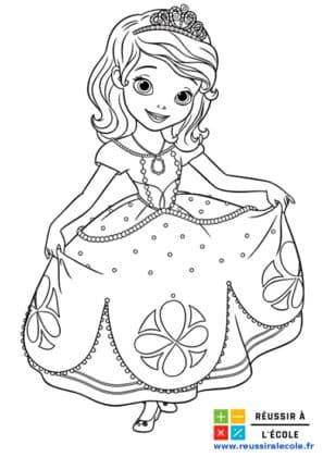dessin princesse sofia