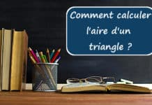comment calculer l aire d un triangle