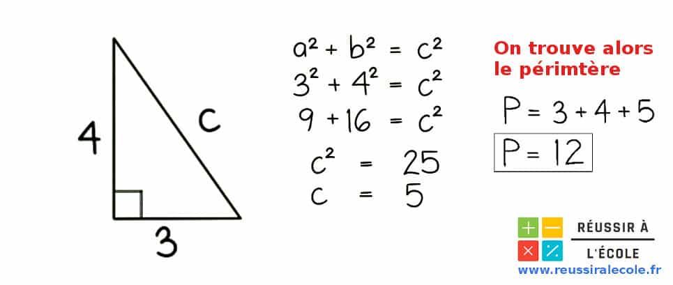 perimetre triangle rectangle