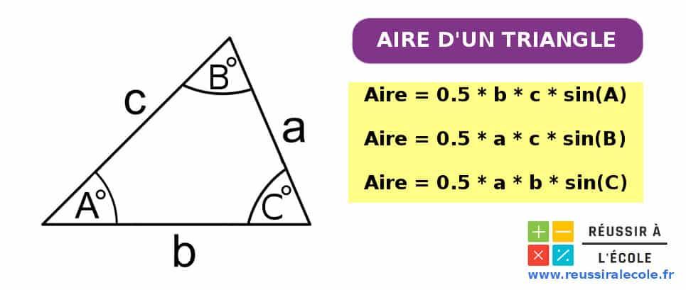 formule aire d un triangle