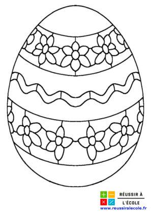 dessin oeufs de paques à imprimer