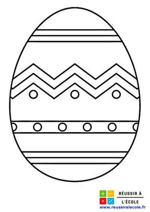 dessin oeuf de paques à imprimer