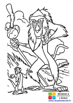 dessin roi lion