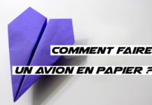 comment faire un avion en papier