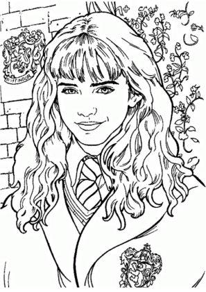 coloriage hermione