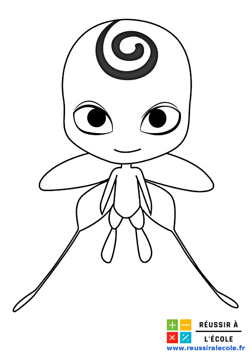 coloriage miraculous kwami