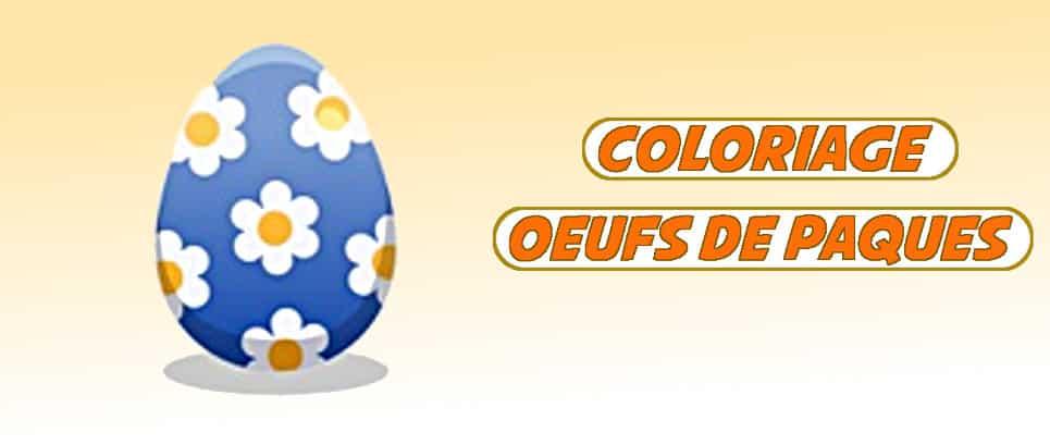 coloriage oeufs de paques