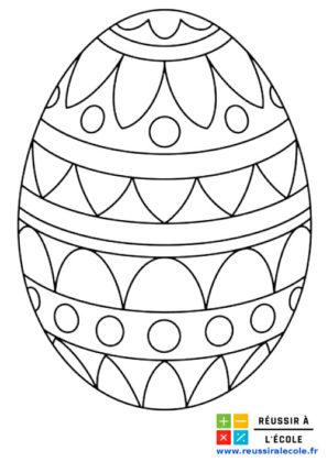 dessin œuf de pâques