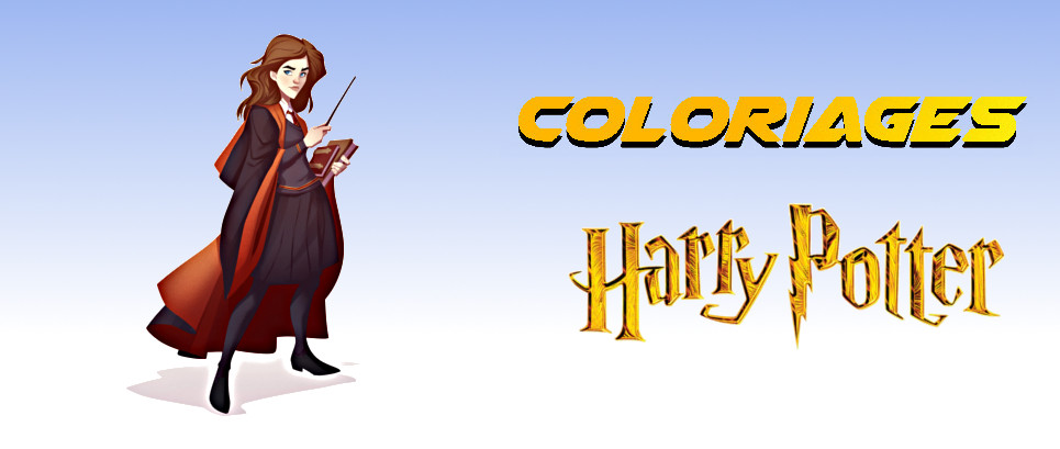 coloriage harry potter hermione