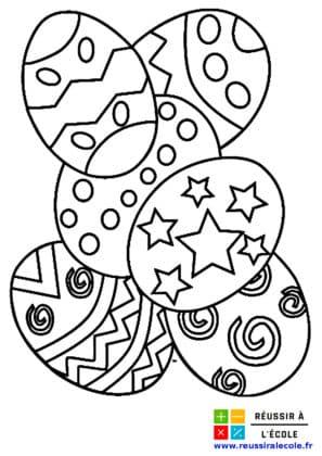 dessin oeuf de paques