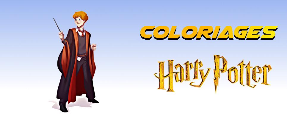 coloriage harry potter à imprimer