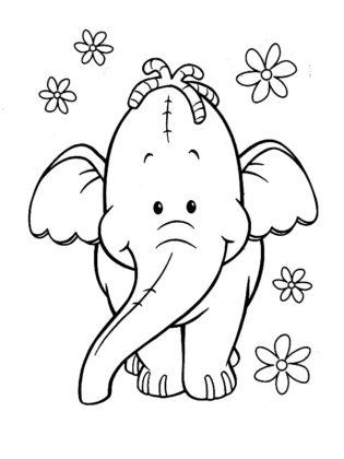 dessin elephant rigolo