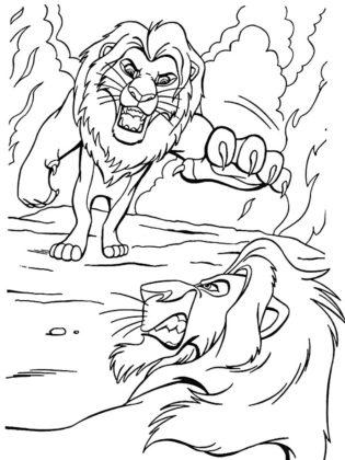 coloriage le roi lion