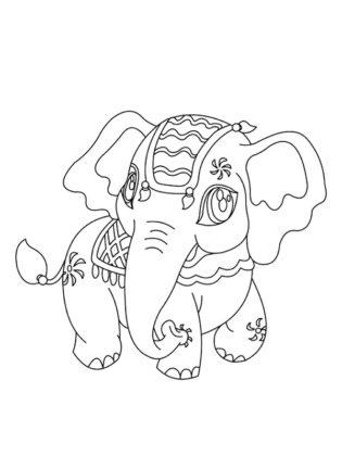 kawaii à colorier