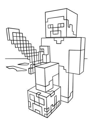 coloriage de minecraft