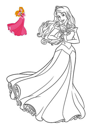 coloriage de princesse disney