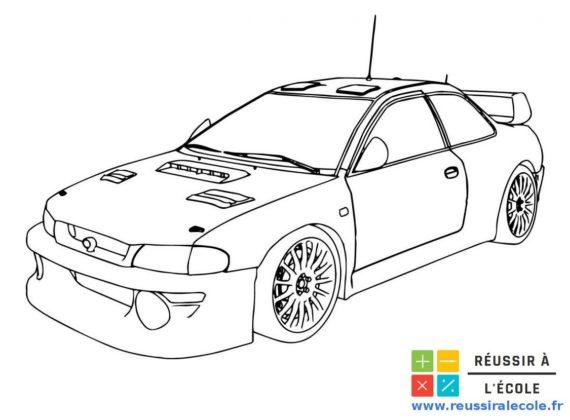 coloriage de voiture