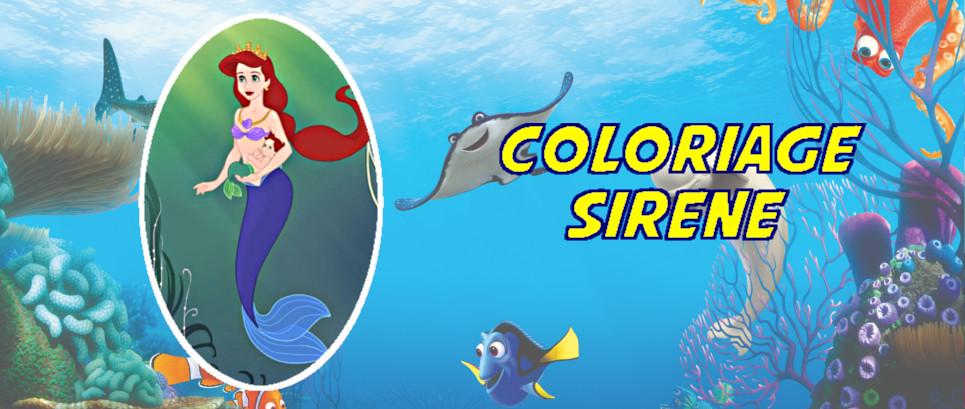 coloriage la petite sirene