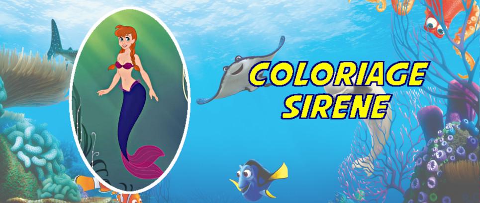 coloriage petite sirene