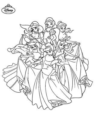 coloriage disney princesse