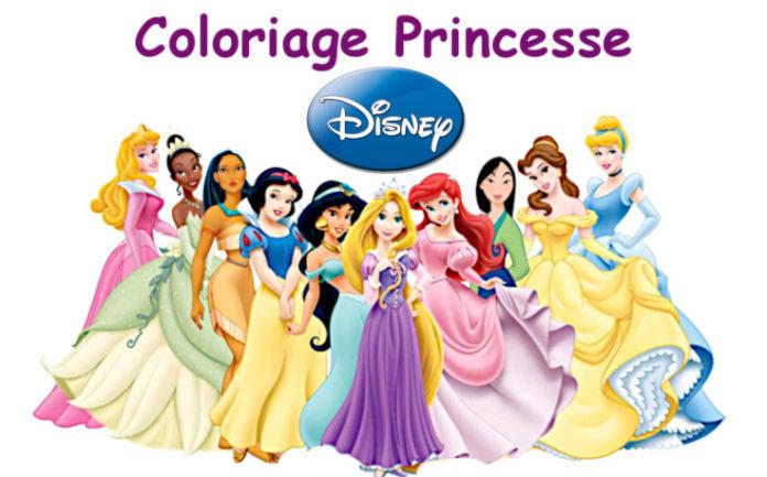 coloriage princesse disney