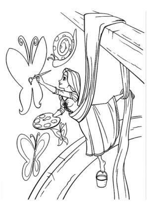 coloriage raiponce