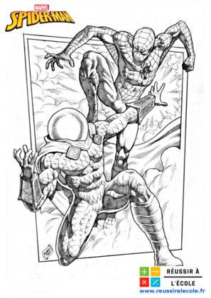 coloriage spider man