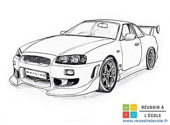 coloriage voiture de rallye