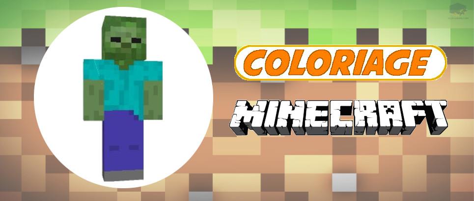 minecraft coloriage