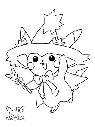 pikachu coloriage